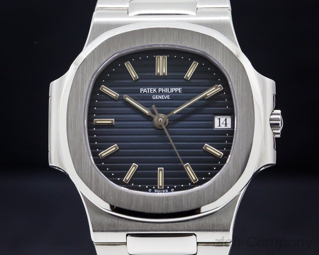 Patek Philippe 3800/1 Nautilus Mid Size Automatic Blue Dial SS NICE