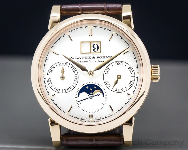 A. Lange and Sohne 330.032 E Saxonia Annual Calendar 18K Rose Gold