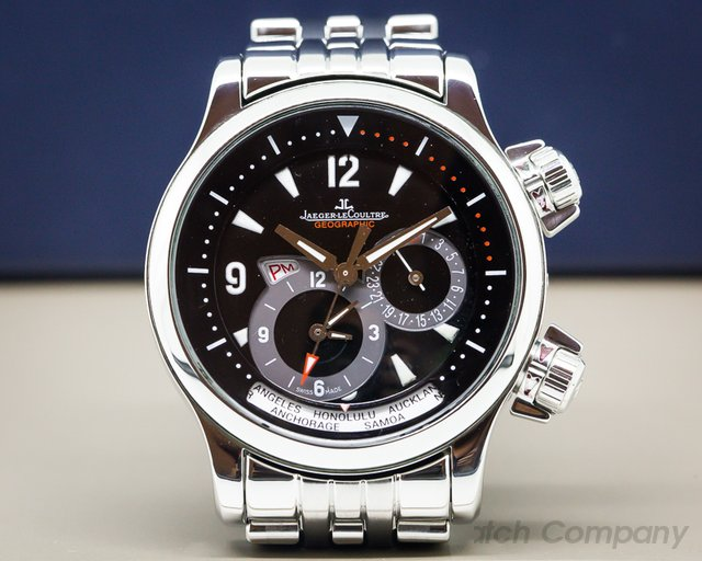 Jaeger LeCoultre 146.8.83 Master Compressor Geographic SS / SS Black Dial