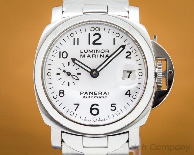 Panerai PAM00051 Luminor Marina 40MM White Dial SS / SS