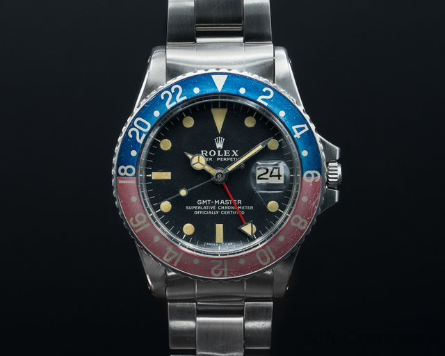 """Rolex 1675 GMT Master 1675 Blue / Red """"Pepsi Bezel"""" FULL SET"""