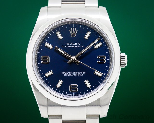 Rolex 114200 Oyster Perpetual Blue Dial SS