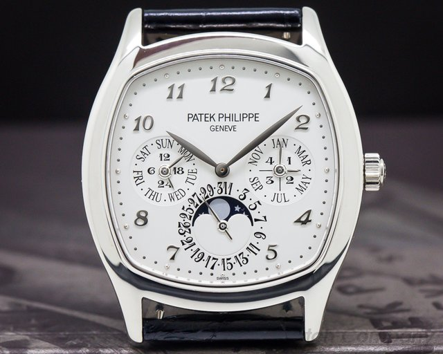 Patek Philippe 5940G-001 Perpetual Calendar 18K White Gold Cushion Case