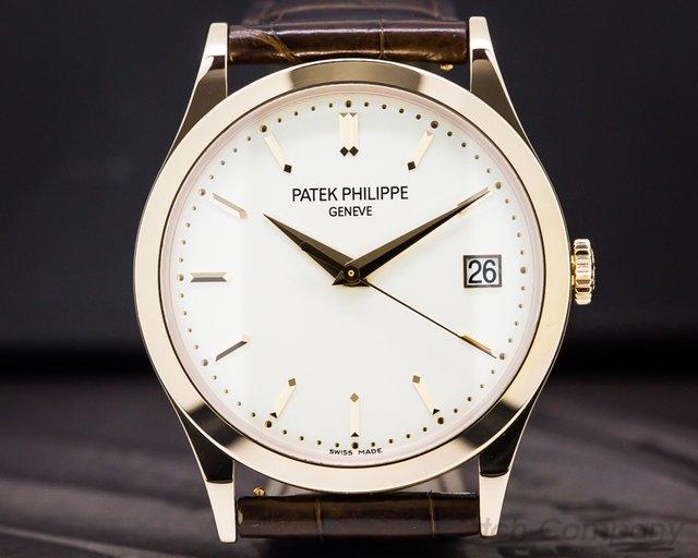 Patek Philippe 5296R-010 Calatrava 18K Rose Gold Silver Dial