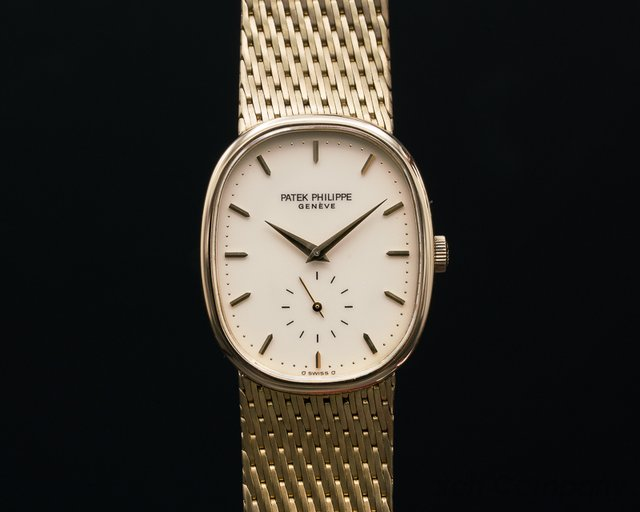 Patek Philippe 3948 Golden Ellipse 18K Yellow Gold / MEsh Bracelet