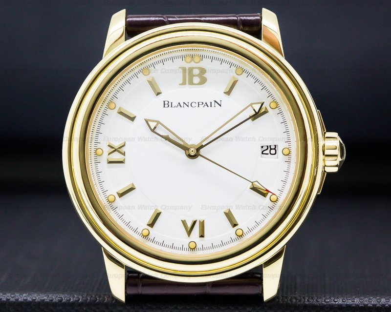 Blancpain 2100-1418-53B Leman Automatic 18K Yellow Gold