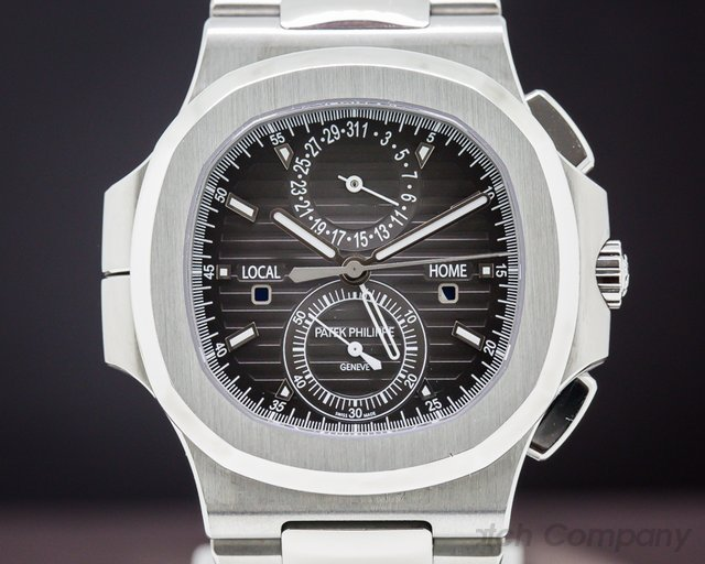 Patek Philippe 5990/1A-001 Nautilus Travel Time Chronograph Grey Dial SS / SS