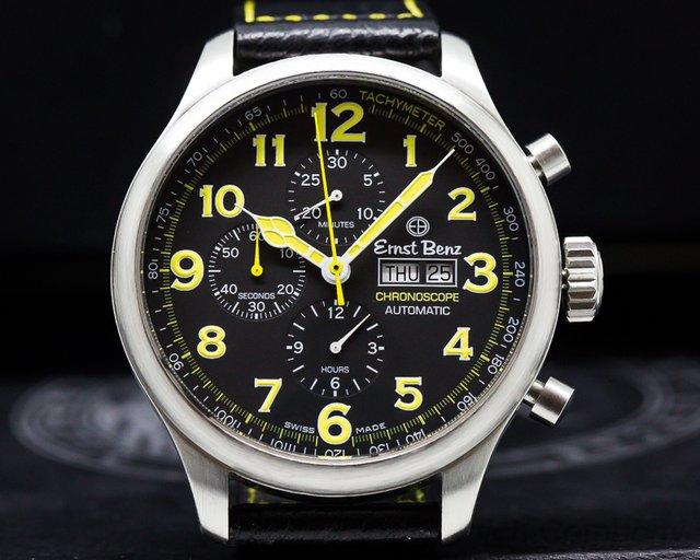 Ernst Benz GC1010117A Chronoscope Automatic Chronograph SS