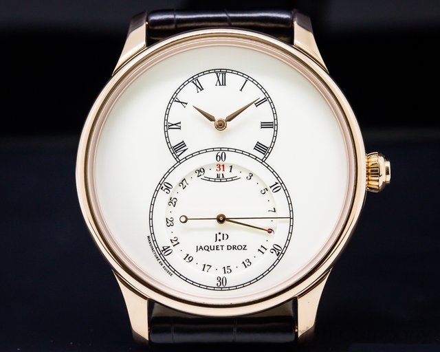 Jaquet Droz j007033200 Grande Seconde Quantieme Automatic Rose Gold Ivory Dial