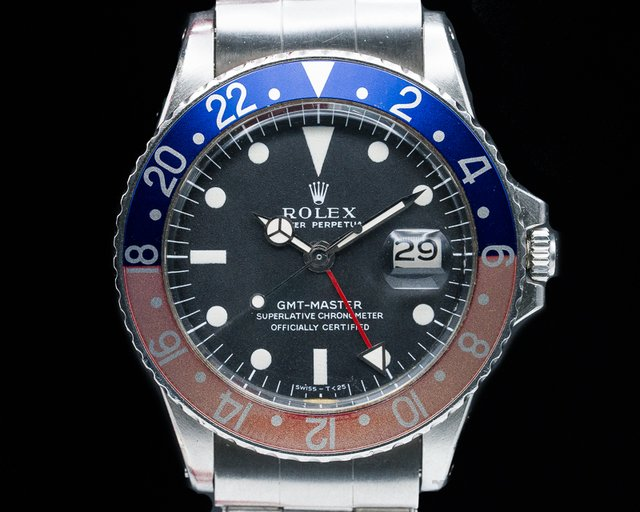 "Rolex 1675 GMT Master 1675 Blue / Red ""Pepsi Bezel"""