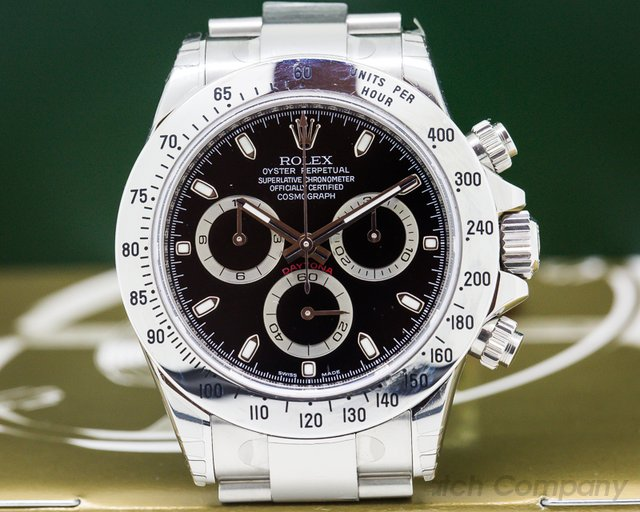 Rolex 116520 Daytona Black Dial SS / SS UNWORN / STICKERS / FULL SET