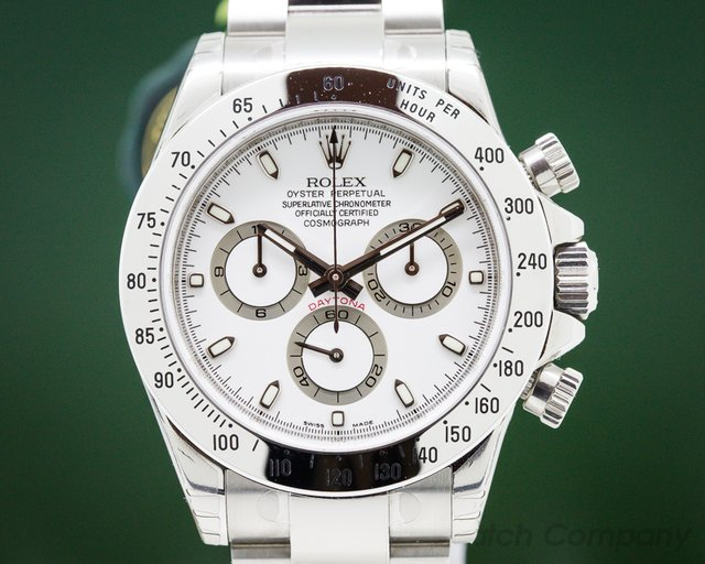 Rolex 116520 Daytona White Dial SS UNWORN / STICKERS FULL SET