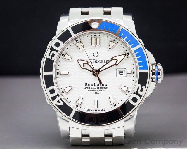 Carl. F Bucherer 00.10632.23.23.01 Patravi Scuba Tech SS / SS Bracelet Certified Chronome