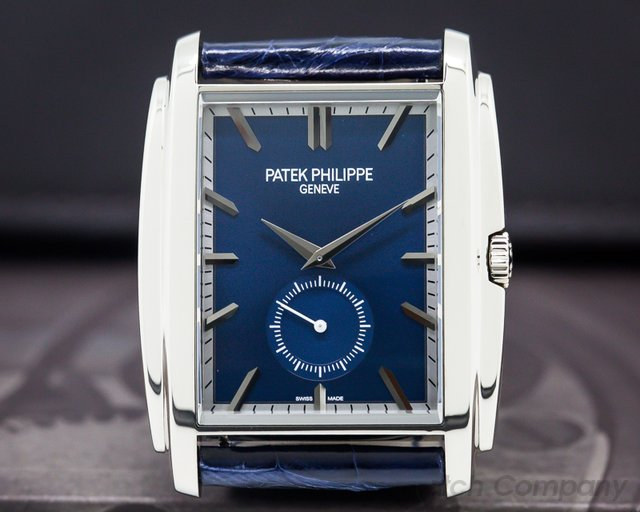 Patek Philippe 5124G-011 Gondolo 18K White Gold Blue Dial Manual Wind