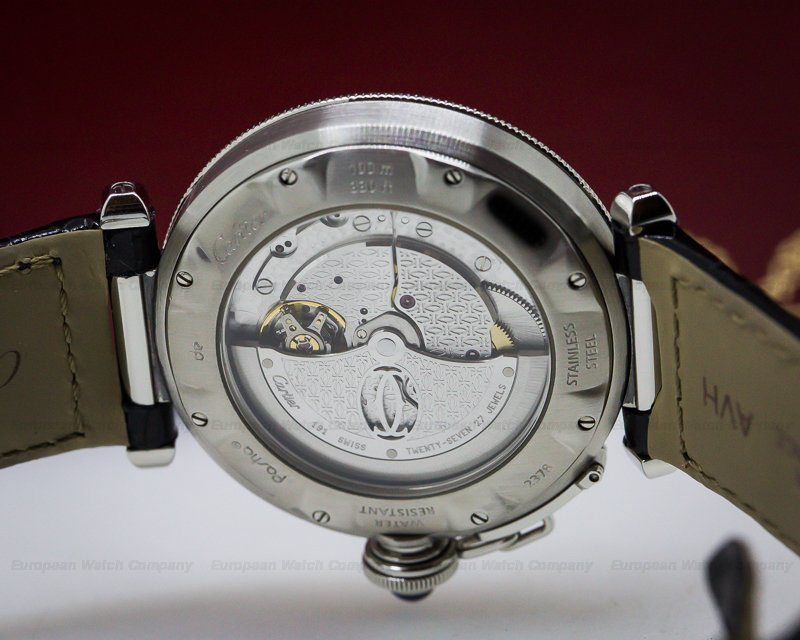 Cartier W3103155 Pasha Automatic Silver Dial SS 38MM