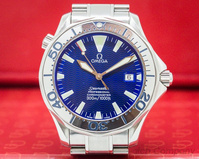 Omega 2255.80.00  Seamaster Professional SS / SS Blue Dial