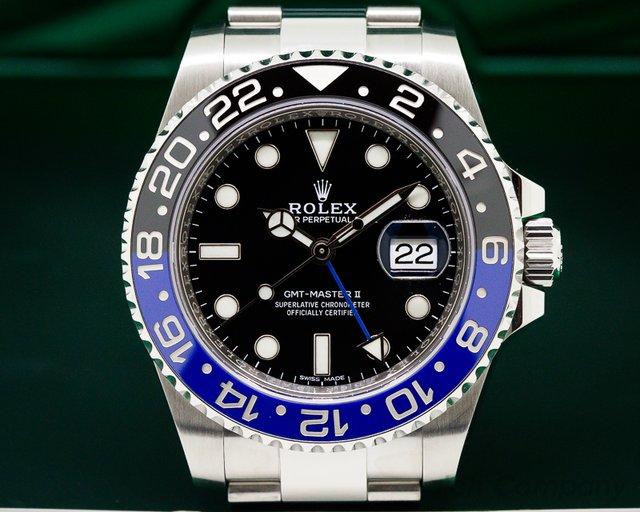 Rolex 116710BLNR GMT Master II Ceramic Black & Blue SS