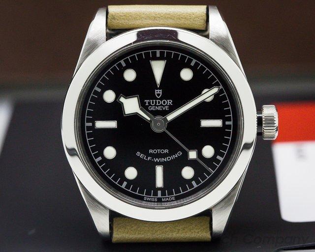 Tudor 79500-BKSS Tudor Heritage Black Bay 36 BLACK SS