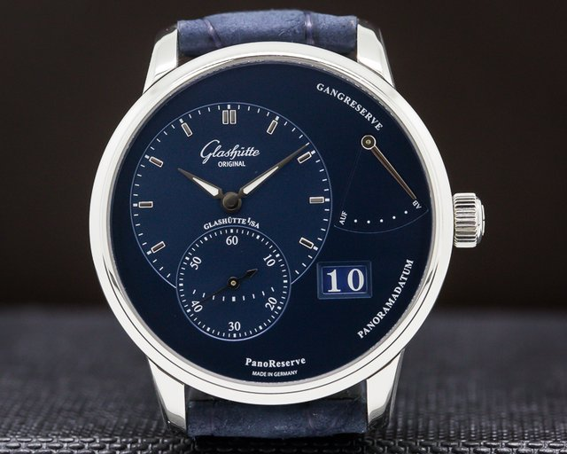 Glashutte Original 1-65-01-26-12-30 PanoReserve Manual Wind Blue Dial SS/SS Deployant