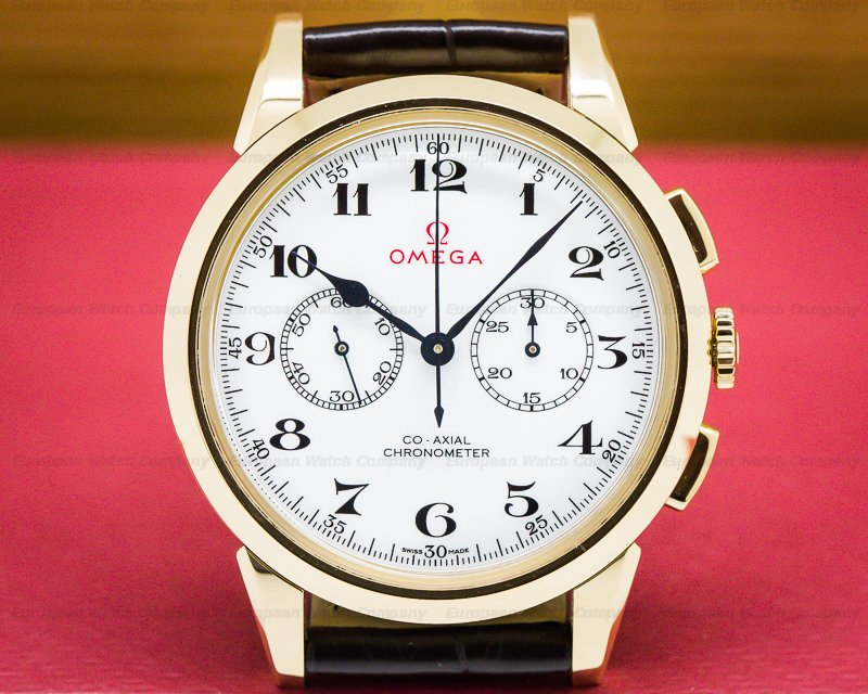 Omega 522.53.39.50.04.001 Olympic Official Timekeeper White Dial 18k Rose Gold LIMITED