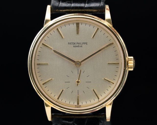 Patek Philippe 3561 Calatrava Automatic 1968 DISPLAY BACK 18k Yellow Gold