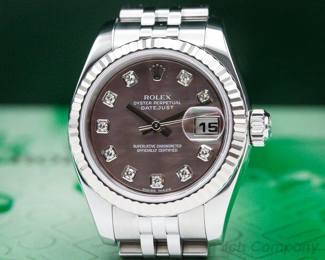 Rolex 179174 Lady Datejust Tahitian MOP Dial Jubilee SS / SS