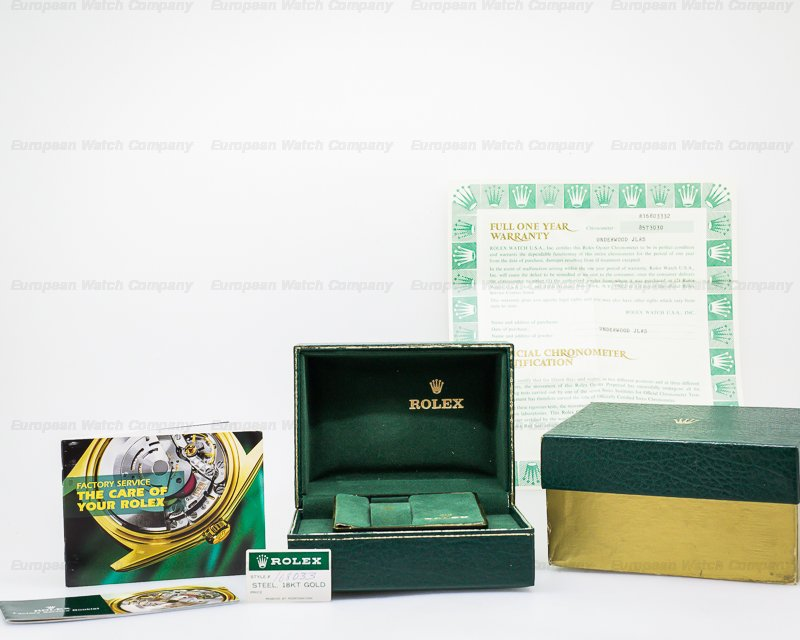 Rolex 16803 Submariner Black Dial 18K Yellow Gold / SS