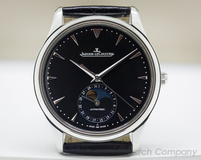 Jaeger LeCoultre Q1368470 Master Ultra Thin Moon SS Black Dial