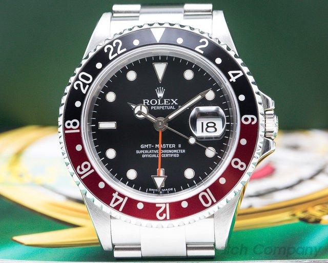 Rolex 16710T GMT Master II SS Red / Black Coke ERROR DIAL