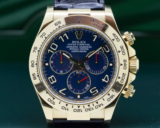 Rolex 116518 Daytona 18K Yellow Gold 