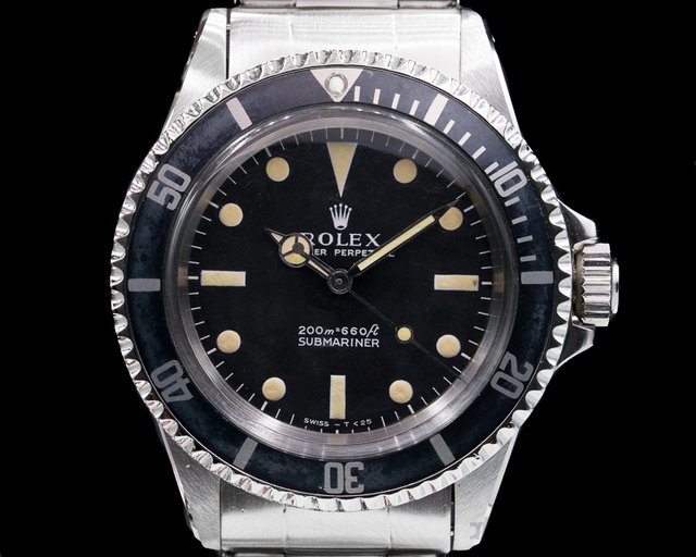"Rolex 5513 Vintage Submariner 5513 ""Meters First"" ""Kissing 40"" Bezel"
