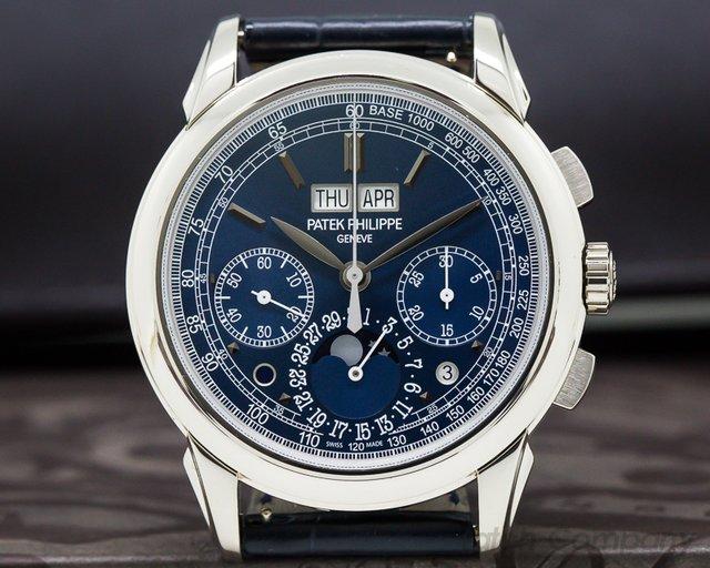Patek Philippe 5270G-019 Perpetual Calendar Chronograph 18K White Gold BLUE DIAL