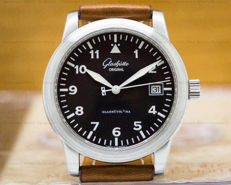 Glashutte Original 39-11-07-17-04 Senator Navigator Date SS Black Dial