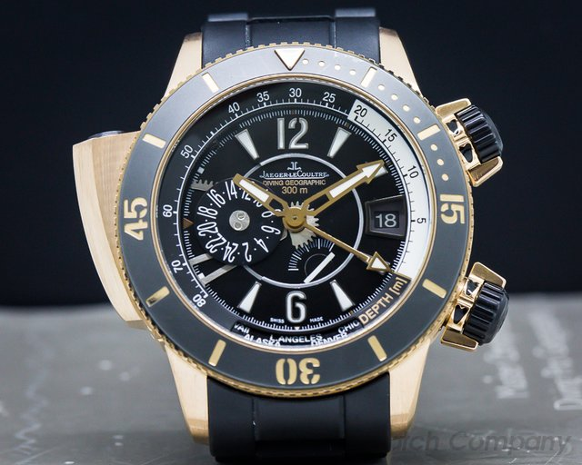 Jaeger LeCoultre Q1852670 Master Compressor Diving Pro Geographic Navy Seals 18K Rose Gold