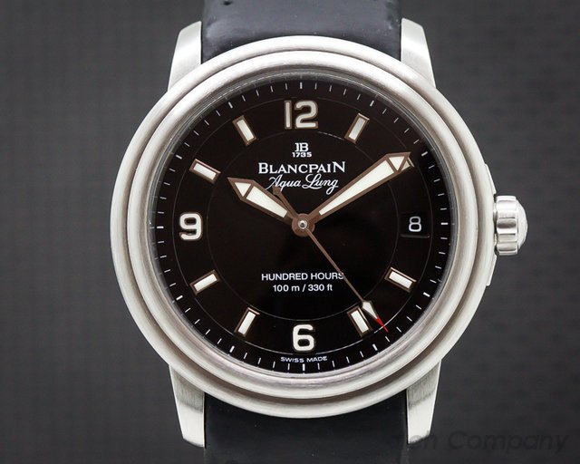 Blancpain 2100-1130A-71 Leman Aqualung Ultra Slim Automatic SS / Strap