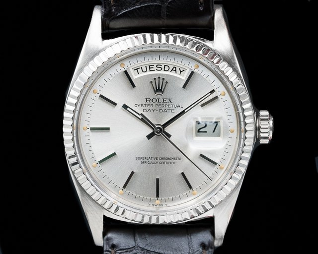 Rolex 1803 Oyster Perpetual Day Date 18K White Gold