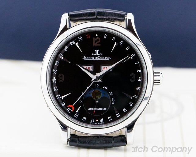 Jaeger LeCoultre 140.8.98.S Master Moon SS Black Dial