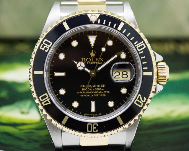 Rolex 16613 Submariner Black Dial SS / 18K