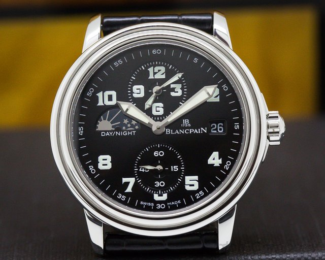 Blancpain 2160-1130M-53 Leman Timezone Military Dial SS