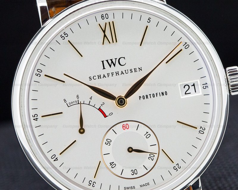 IWC IW510103 Portofino Hand Wound Eight Days SS Silver Dial
