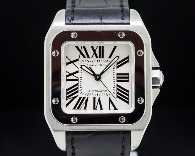 Cartier W20106X8 Santos 100 SS Medium Automatic