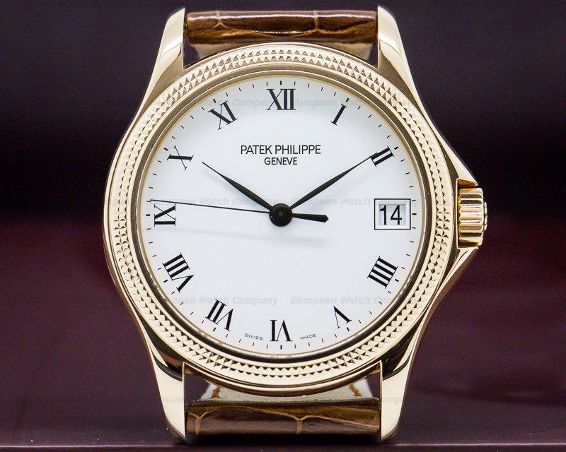 Patek Philippe 5117R-001 Calatrava 18K Rose Gold White Roman Hobnail