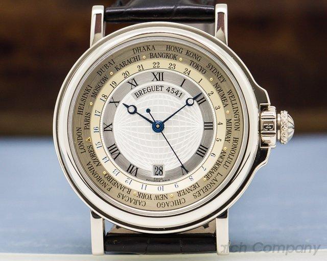 Breguet 3700BB.12.9V6 Marine Hora Mundi 18K White Gold