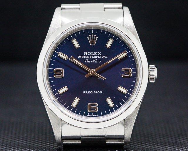 Rolex 14000 Air King Blue Dial SS