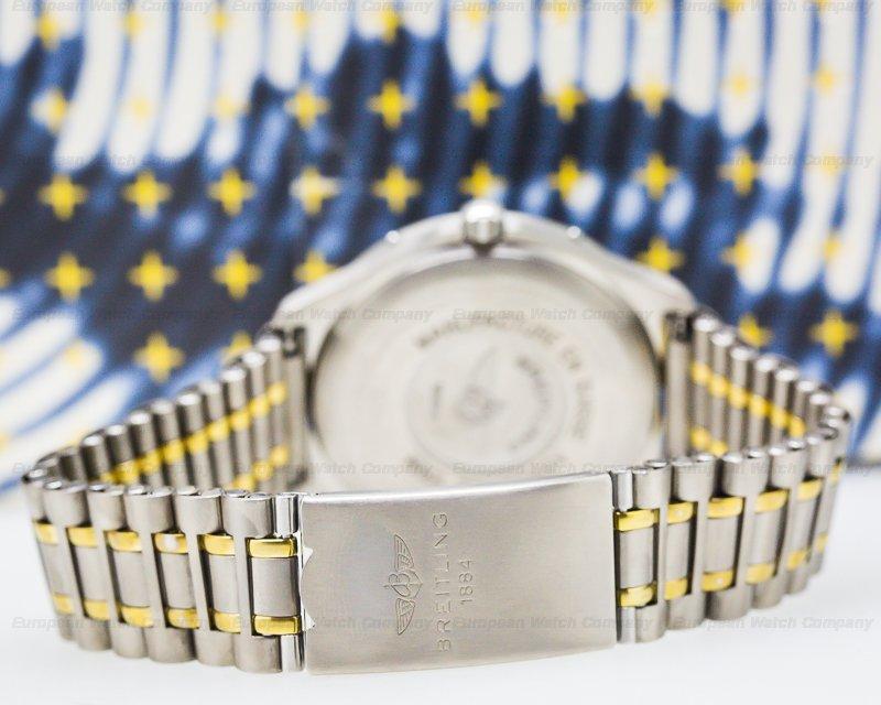 Breitling F65062 Aerospace Professional Blue Dial Titanium / Gold