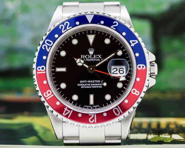 Rolex 16710 GMT Master II SS Red / Blue Pepsi Bezel FULL SET