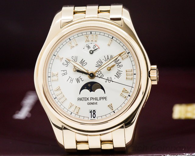 Patek Philippe 5036/1R-001 Annual Calendar Moonphase 18K Rose Gold / Bracelet
