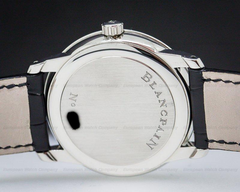 Blancpain 1161-1130-55 Ultra Thin Automatic 100HR Black Arabic Dial