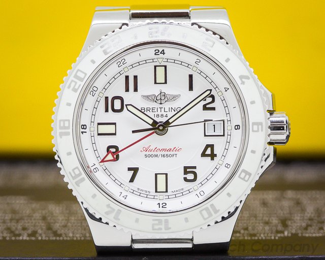 Breitling A32380 SuperOcean GMT White Dial SS / SS