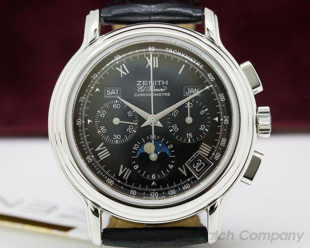 Zenith 01.0240.410 Chronomaster T El Primero Moon Black Dial SS